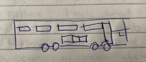 An drawing of a bus